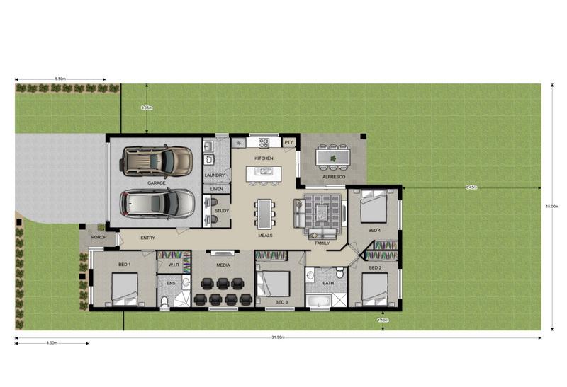 Colour Floor Plans